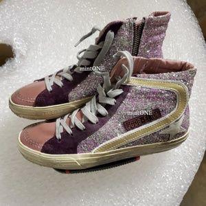 NIB Golden Goose glitter hi top sneaker size 37